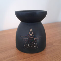 Black Star Cutwork Burner Lit