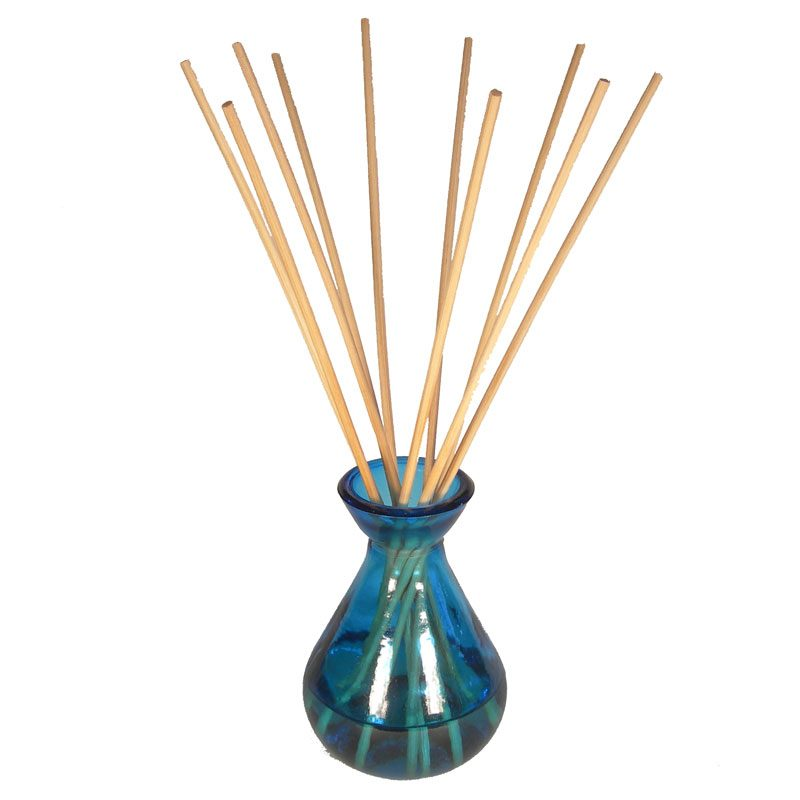 Aqua Glass Reed Diffuser Bottle & 10 Reeds