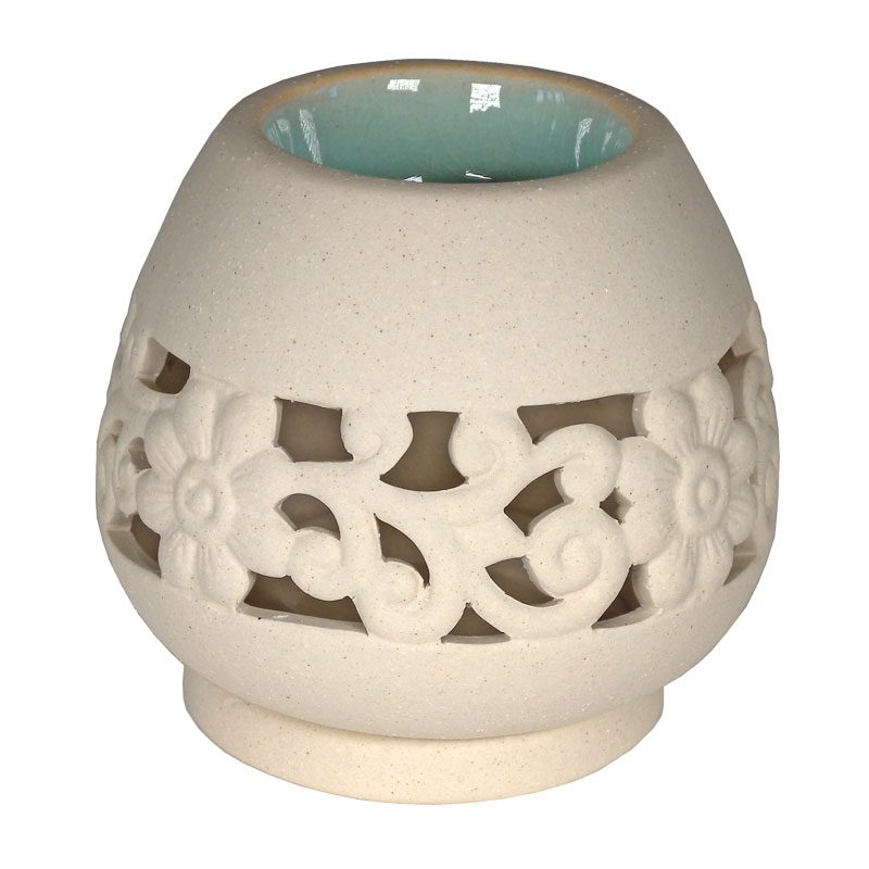 Fair Trade Ceramic Floral Burner