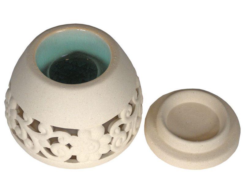 Fair Trade Ceramic Floral Burner 2