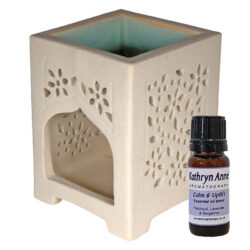 Fair Trade Square Arch Oil Burner & Oil Blend Gift Set