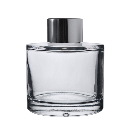 Clear Glass Round Reed Diffuser Bottle