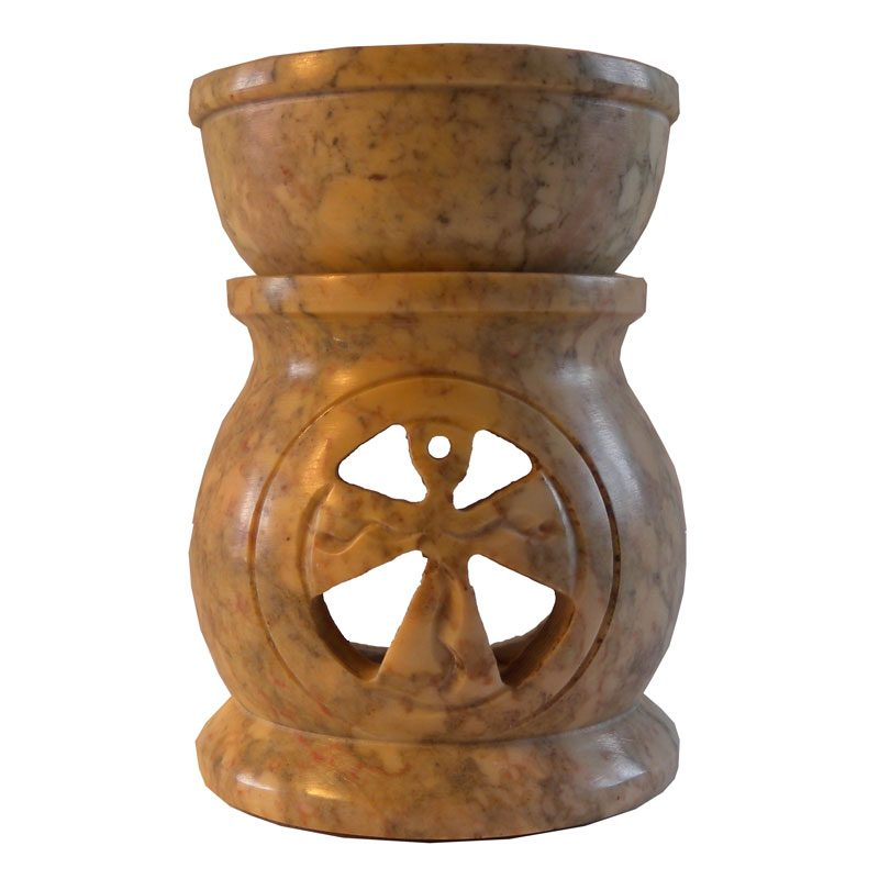 Small Soapstone Celtic Cross Oil Burner