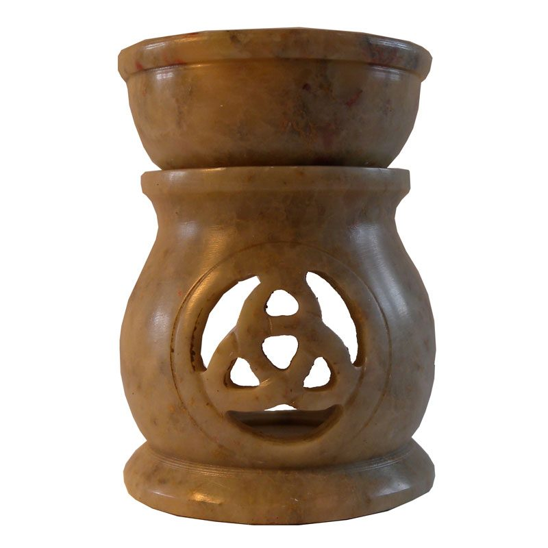 Small Soapstone Celtic Knot Oil Burner