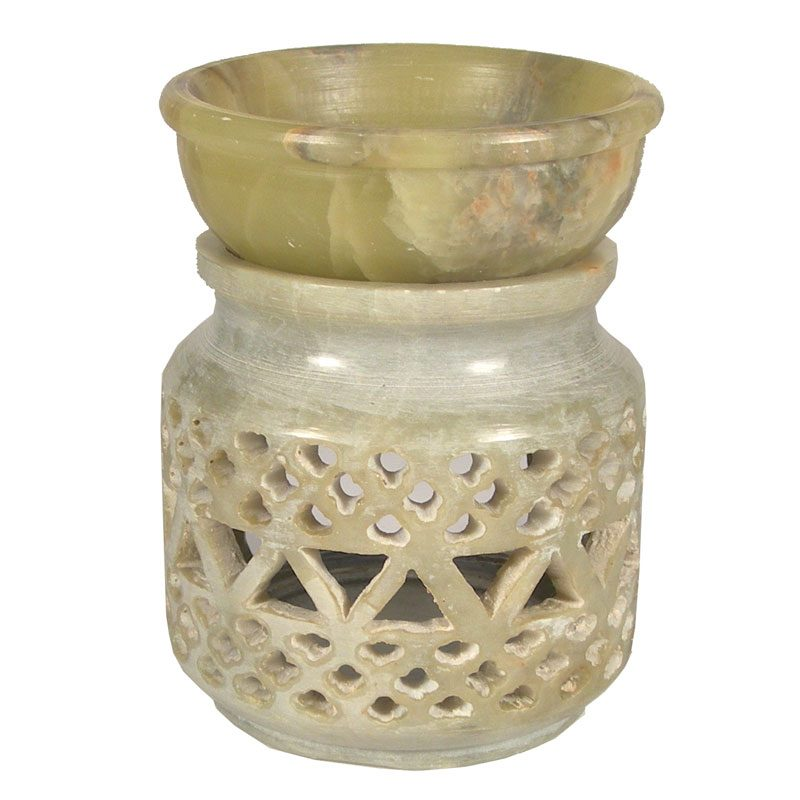 Small Soapstone Triangle Oil Burner