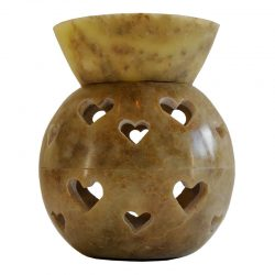 Large Soapstone Split Ball Hearts Oil Burner