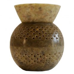Large Soapstone Split Ball Jali Oil Burner