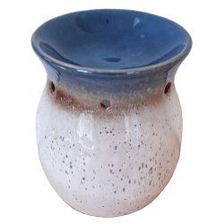 Stoneware Oil Burner, Ocean Blue