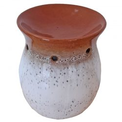 Stoneware Oil Burner, Cinnamon Brown