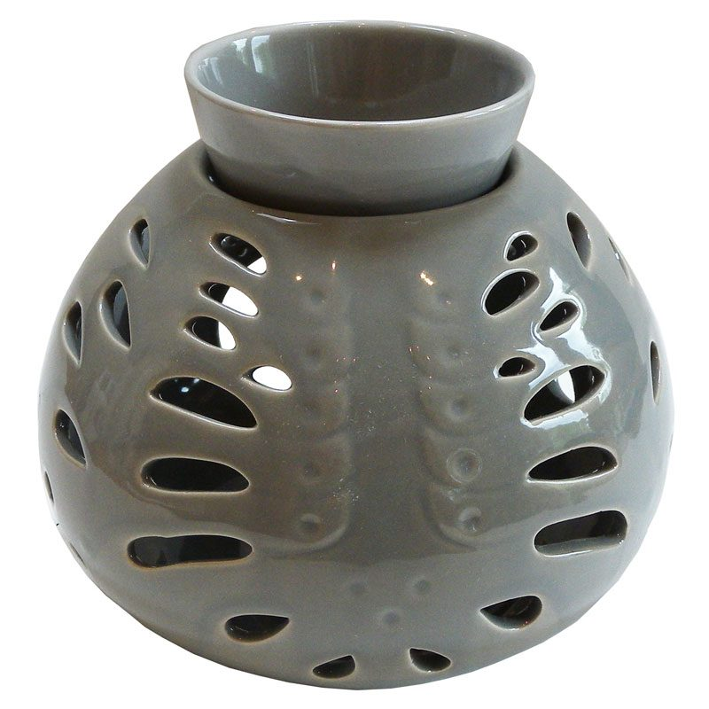 Striking Large Grey Ceramic Oil Burner